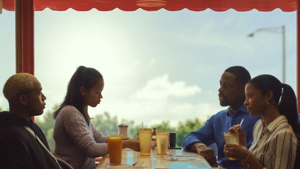 Kelvin Harrison Jr. as Tyler, Taylor Russell as Emily, Sterling K. Brown as Ronald, Renée Elise Goldsberry as Catherine